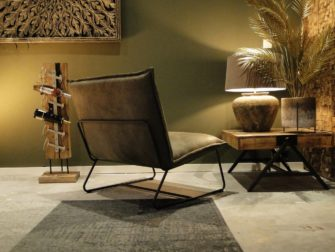 groene industriele loungestoel