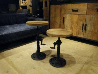 piano kruk oud hout