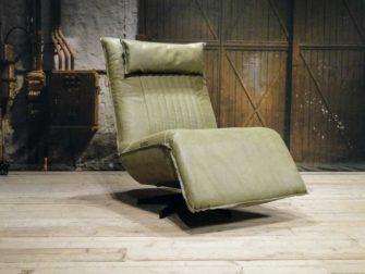 leren relax fauteuil olive