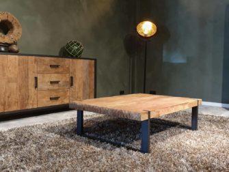 industriele salontafel oud hout