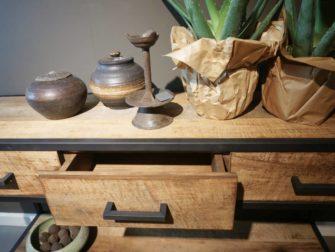 industriele side table met laden