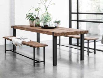 lange teak tafel