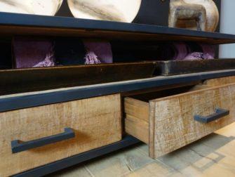 industrieel tv meubel met laden